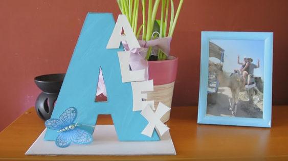 Ako spraviť dekoračné písmeno s menom