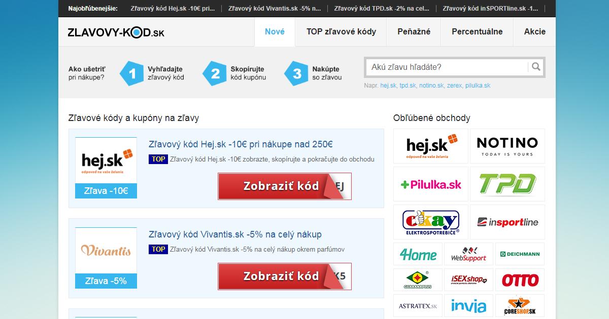 Ako ušetriť pri každom nákupe cez internet na zlavovy-kod.sk