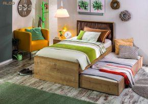 Detská posteľ sprístelkou ako alternatíva kposchodovým posteliam